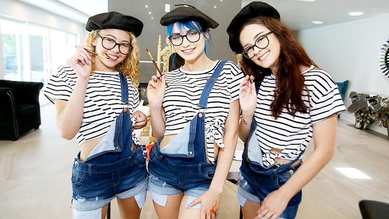 Allie Addison, Jewelz Blue, Lily Glee – Color Me Bad – 07/23/19